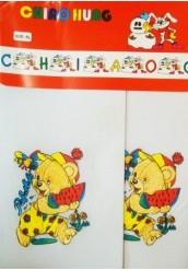 Белые детские колготки 30den с мишкой