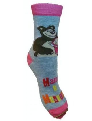 """Детские махровые носки """" Маша и медведи """""""