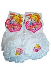 Носки детские белые с кружевом,штучно