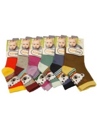 """Носки для малышей """" Корона """",медвежонок"""