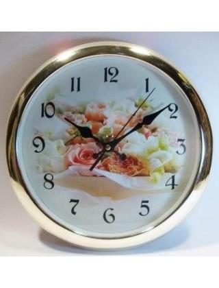 """Настенные часы """" Wall """",цветы"""