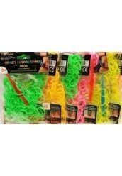 "Резинки Loom Bands разноцветные ""Neon"",200шт"