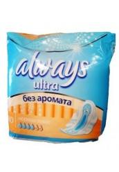 """Женские прокладки """"Always"""" ultra нормал плюс"""