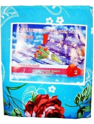 """Постельный комплект """" Бязь """", 180*215, Роза"""