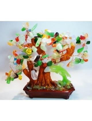 """Сувенир """" Дерево счастья """"дельфин зеленый"""