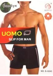 """UOMO """"G-6243"""" бамбук ,боксеры мужские"""