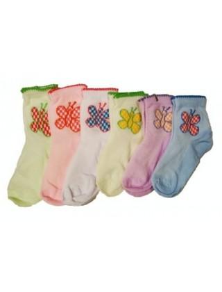 """Носки для девочки """"Бабочка"""", бамбук"""