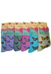 "Женские носки "" BFL "", бабочки"